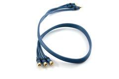 El RGB cablegrafía para el televisor de alta definición fotos de archivo