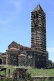 El rgia histórico del ¡de SantissimaTrinità di Saccà de la iglesia en la isla de Cerdeña, Italia Imagen de archivo