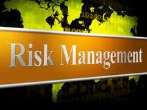 El riesgo de la gestión indica autoridad y la cabeza inseguras libre illustration