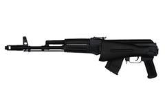 El rifle de asalto con la acción del extremo contrajo la opinión de lado izquierdo aislada en blanco Fotografía de archivo libre de regalías