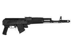 El rifle de asalto con la acción del extremo contrajo la opinión del lado derecho aislada en blanco Fotografía de archivo