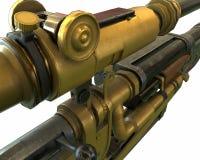 El rifle de Steampunk parte el ejemplo del concepto 3D Foto de archivo libre de regalías