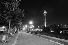 El Rin en la noche Fotos de archivo