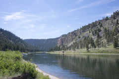 El río Missouri Montana Fotos de archivo libres de regalías
