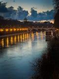 El río Tíber, Roma, Italia Fotos de archivo libres de regalías