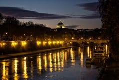 El río Tíber, Roma, Italia Imágenes de archivo libres de regalías