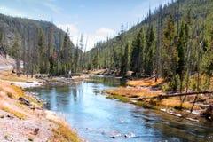 El río Yellowstone en caída Imágenes de archivo libres de regalías