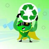 El robot moderno recicla tecnología de la muestra stock de ilustración