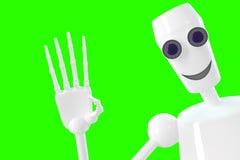 El robot muestra gesto hola Fotografía de archivo