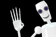 El robot muestra gesto hola Foto de archivo libre de regalías