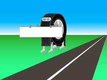 El robot vale al lado del camino Imagenes de archivo