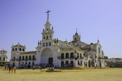 El RocÃo, Almonte, Huelva, Andalucia, Spanien Royaltyfri Bild