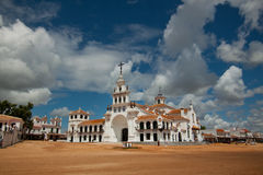 El Rocio. The Andalusian church of El Rocio, where lot of people peregrinate once a year Royalty Free Stock Photography