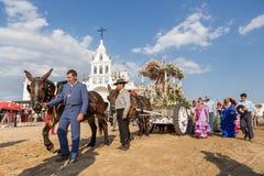 EL ROCIO, ANDALOUSIE, ESPAGNE - 22 mai : Romeria images libres de droits