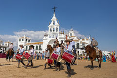 El ROCIO, ANDALUCIA, SPAIN - MAY 22: Romeria after visiting Sanctuary goes to village. Stock Image