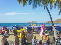 El Rodadero plaża w Kolumbia obrazy stock