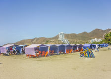 El Rodadero plaża w Kolumbia Obrazy Royalty Free