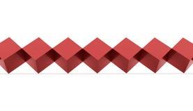 El rojo abstracto cubica el fondo Fotos de archivo libres de regalías