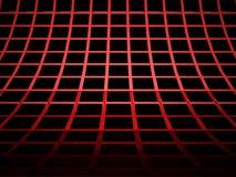El rojo abstracto cubica el fondo rendido ilustración del vector