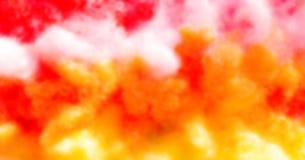 El rojo, amarillo abstractos y blanco empañaron el fondo Foto de archivo libre de regalías