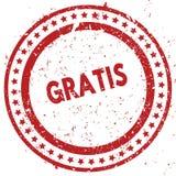 El rojo apenó GRATIS el sello de goma con textura del grunge libre illustration