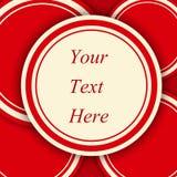 El rojo circunda el fondo Imagen de archivo