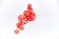 El rojo corta en cuadritos Imagen de archivo libre de regalías