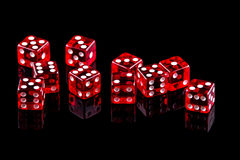 El rojo corta en cuadritos Foto de archivo libre de regalías