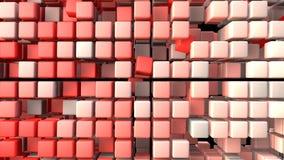 El rojo cubica el fondo Ilustración del Vector