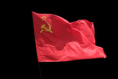 El rojo de la bandera Foto de archivo