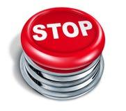 El rojo del botón de paro Fotografía de archivo