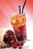 El rojo del hielo fecha té Fotografía de archivo