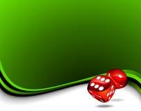 El rojo dos corta en cuadritos para un tema del casino Fotografía de archivo libre de regalías