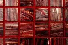 El rojo embaldosa el fondo Foto de archivo libre de regalías