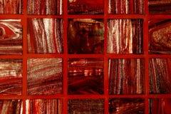 El rojo embaldosa el fondo Fotografía de archivo