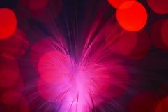 El rojo irradia la explosión Fotografía de archivo libre de regalías