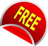 El rojo libera el botón Fotografía de archivo libre de regalías