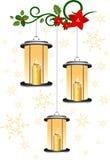 El rojo mira al trasluz la llama de Navidad libre illustration
