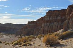 El rojo oscila los acantilados California de la tabla del barranco Foto de archivo libre de regalías
