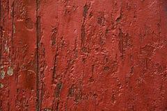 El rojo pintó el panel de madera, fondo, papel pintado Fotografía de archivo libre de regalías