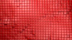 El rojo plástico cubica el fondo Stock de ilustración