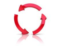El rojo recicla Imagen de archivo libre de regalías
