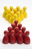 El rojo resuelve amarillo Imagen de archivo libre de regalías