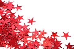 El rojo stars confeti Imagen de archivo libre de regalías