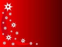 El rojo Stars el fondo de la Navidad Imagenes de archivo