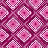 El rojo y el rosa pintaron diamantes en un modelo inconsútil de repetición ilustración del vector