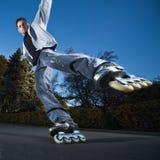 El rollerblading rápido Imagen de archivo libre de regalías