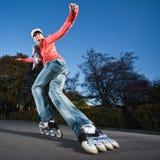 El rollerblading rápido Foto de archivo libre de regalías