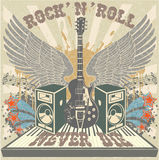 El rollo de la roca n nunca muere Imagen de archivo