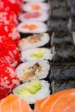 El rollo de sushi hizo el plato Foto de archivo libre de regalías